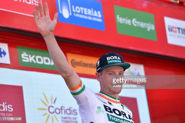 Podium / Sam Bennett of Ireland and Team Bora-Hansgrohe / Celebration / during the 74th Tour of Spain 2019, Stage 14 a 188km stage from San Vicente...
