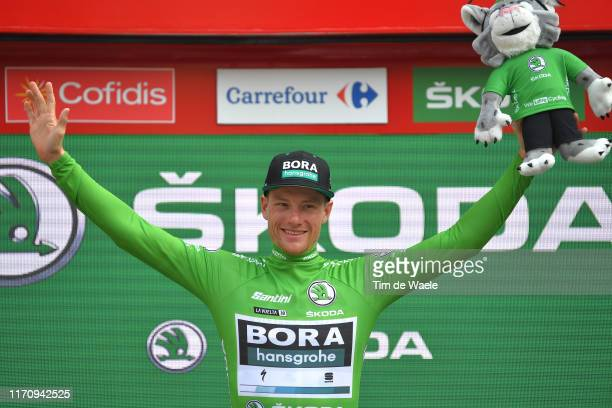 Podium / Sam Bennett of Ireland and Team Bora-Hansgrohe Green Points Jersey / Celebration / during the 74th Tour of Spain 2019, Stage 6 a 198,9km...