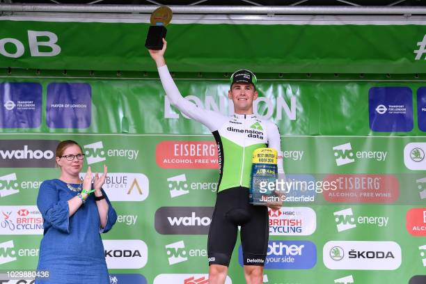 Podium / Scott Davies of Great Britain and Team Dimension Data Best British Rider / Celebration / during the 15th Tour of Britain 2018, Stage 8 a...