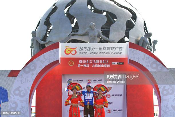 Podium / Silvan Dillier of Switzerland and Team Ag2R La Mondiale Blue Sprint Jersey / Celebration / during the 2nd Tour Of Guangxi 2018, Stage 1 a...