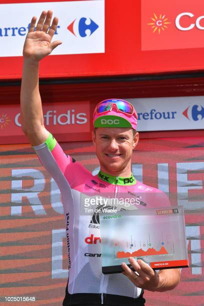 Podium / Simon Clarke of Australia and Team EF Education First - Drapac P/B Cannondale / Celebration / during the 73rd Tour of Spain 2018, Stage 5 a...