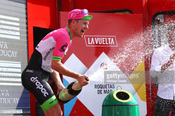 Podium / Simon Clarke of Australia and Team EF Education First - Drapac P/B Cannondale / Celebration / Champagne / during the 73rd Tour of Spain...