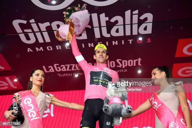Podium / Simon Yates of Great Britain and Team Mitchelton-Scott Pink Leader Jersey / Celebration / Champagne / during the 101th Tour of Italy 2018,...
