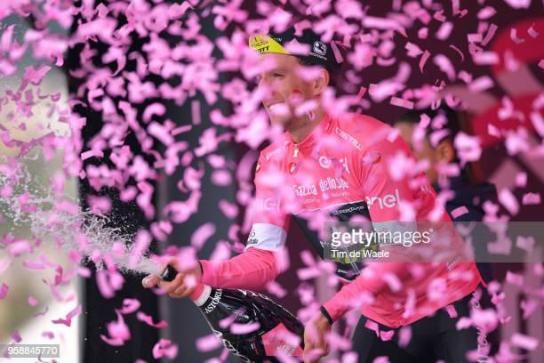 Podium / Simon Yates of Great Britain and Team Mitchelton-Scott Pink leader Jersey / Celebration / Champagne / during the 101st Tour of Italy 2018,...