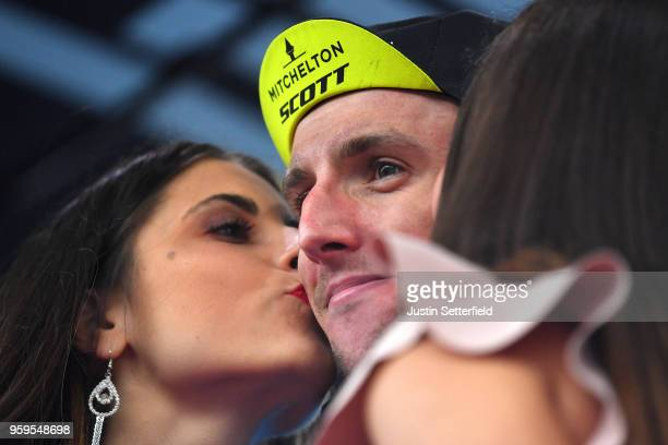 Podium / Simon Yates of Great Britain and Team Mitchelton-Scott Pink Leader Jersey / Celebration /during the 101st Tour of Italy 2018, Stage 12 a...