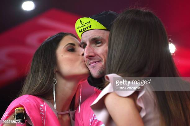 Podium / Simon Yates of Great Britain and Team Mitchelton-Scott Pink Leader Jersey / Celebration / during the 101st Tour of Italy 2018, Stage 12 a...