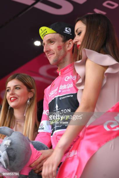 Podium / Simon Yates of Great Britain and Team MitcheltonScott Pink Leader Jersey / Celebration / during the 101st Tour of Italy 2018 Stage 13 a...