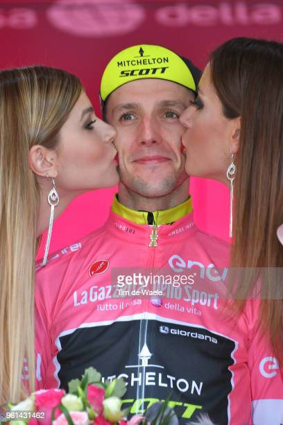 Podium / Simon Yates of Great Britain and Team MitcheltonScott Pink Leaders Jersey / Celebration / during the 101st Tour of Italy 2018 Stage 16 a...