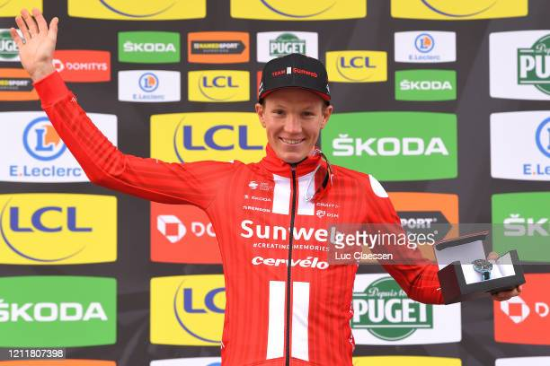 Podium / Søren Kragh Andersen of Denmark and Team Sunweb / Celebration / during the 78th Paris - Nice 2020, Stage 4 a 15,1km Individual Time Trial...