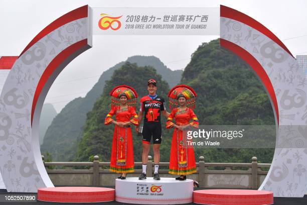 Podium / Stefan Kung of Switzerland and Bmc Racing Team Most Aggressive Rider / Celebration / during the 2nd Tour of Guangxi 2018 Stage 4 a 1522km...