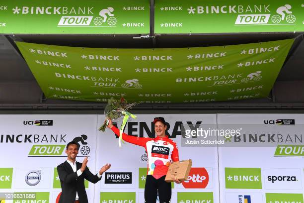 Podium / Stefan Kung of Switzerland and BMC Racing Team Red Points Jersey / Celebration / during the 14th BinckBank Tour 2018, Stage 2 a 12,7km...
