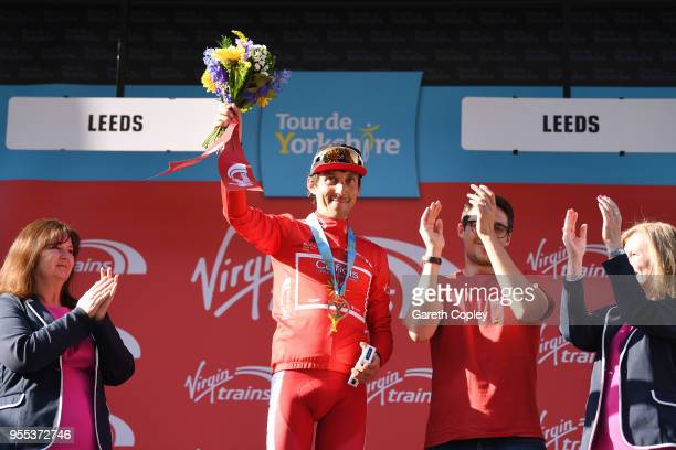 Podium / Stephane Rossetto of France and Team Cofidis Solutions Credit Red Mountain Jersey / Celebration /during the 4th Tour of Yorkshire 2018 Stage...