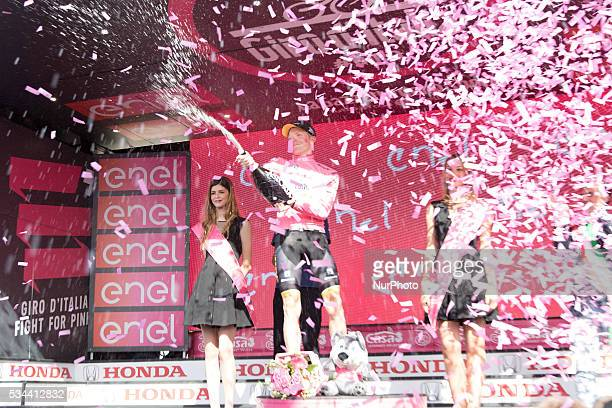 Podium Steven KRUIJSWIJK Pink Leader Jersey during the 99th Tour of Italy 2016 Giro d'Italia Stage 17 Molveno Cassano d'Adda on May 25 2016 in...