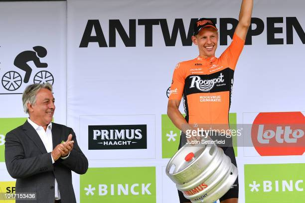 Podium / Taco Van Der Hoorn of Netherlands and Team Roompot-Nederlandse Loterij / Celebration / Beer / during the 14th BinckBank Tour 2018, Stage 3...