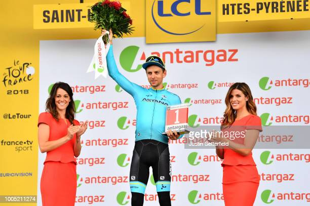 Podium / Tanel Kangert Estonia and Astana Pro Team Most Combative Rider / Celebration / during the 105th Tour de France 2018, Stage 17, a 67km stage...