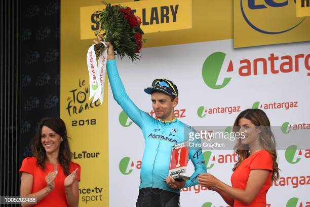 Podium / Tanel Kangert of Estonia and Astana Pro Team Most Combative Rider / Celebration / during the 105th Tour de France 2018, Stage 17, a 67km...