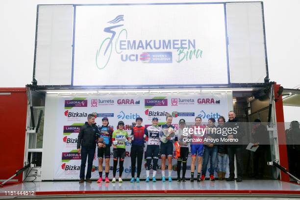 Podium / Tanja Erath of Germany and Team Canyon SRAM Racing Blue Intermediated Sprint Jersey / Ane Santesteban of Spain and WNT Rotor Pro Cycling...