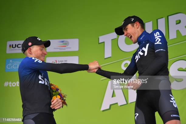 Podium / Tao Hart Geoghegan of United Kingdom and Team Sky / Pavel Sivakov of Russia and Team Sky / Celebration / during the 43rd Tour of the Alps...