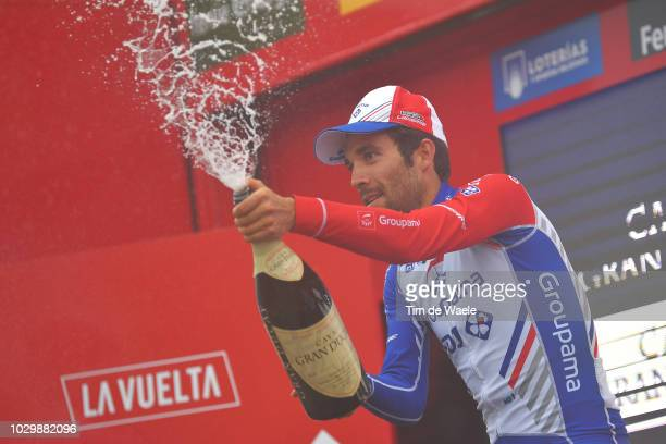 Podium / Thibaut Pinot of France and Team Groupama FDJ / Celebration / Champagne / during the 73rd Tour of Spain 2018, Stage 15 a 178,2km stage from...
