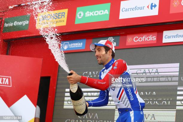 Podium / Thibaut Pinot of France and Team Groupama FDJ / Celebration / Champagne / during the 73rd Tour of Spain 2018, Stage 19 a 154,4km stage from...