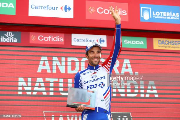 Podium / Thibaut Pinot of France and Team Groupama FDJ / Celebration / during the 73rd Tour of Spain 2018, Stage 19 a 154,4km stage from Lleida to...