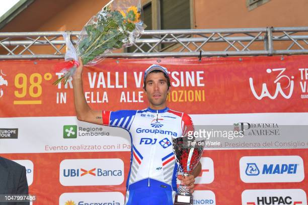 Podium / Thibaut Pinot of France and Team Groupama FDJ / Celebration / during the 98th Tre Valli Varesine 2018 a 197km race from Saronno to Varese on...