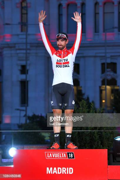 Podium / Thomas De Gendt of Belgium and Team Lotto Soudal / Celebration / Madrid Town Hall / Plaza Cibeles / during the 73rd Tour of Spain 2018 Stage...