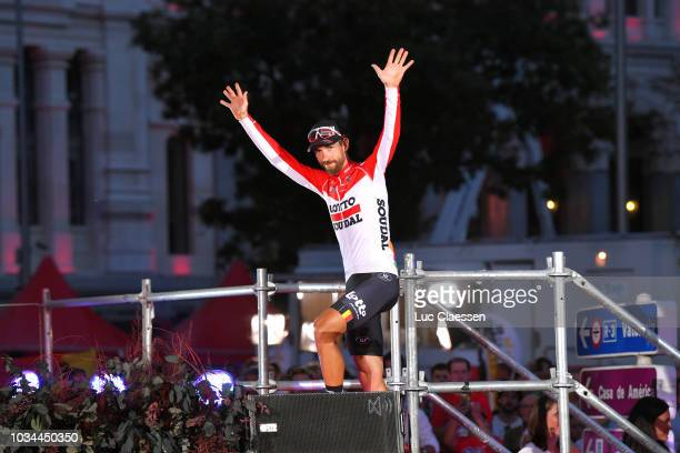 Podium / Thomas De Gendt of Belgium and Team Lotto Soudal / Celebration / Madrid Town Hall / Plaza Cibeles / during the 73rd Tour of Spain 2018,...