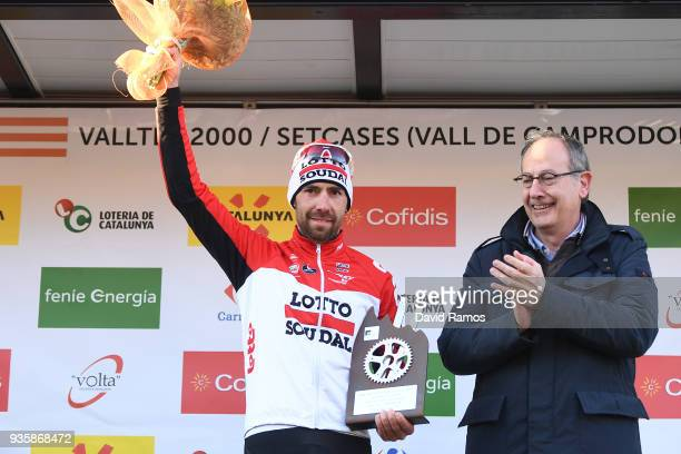Podium / Thomas De Gendt of Belgium and Team Lotto Soudal Celebration / during the 98th Volta Ciclista a Catalunya 2018, Stage 3 a 153km stage from...