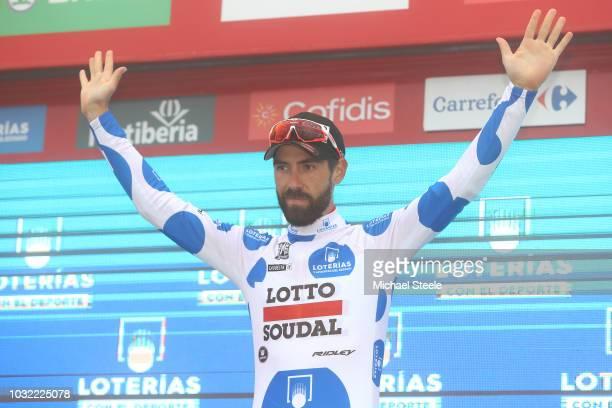 Podium / Thomas De Gendt of Belgium and Team Lotto Soudal Polka Dot Mountain Jersey / Celebration / Celebration / during the 73rd Tour of Spain 2018,...