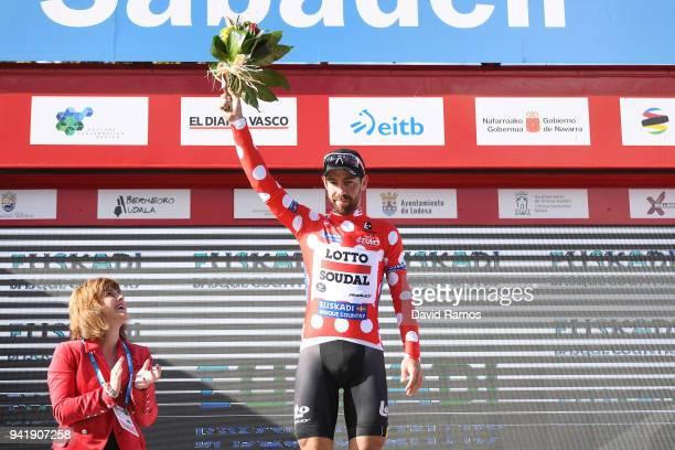 Podium / Thomas de Gendt of Belgium and Team Lotto Soudal Polka Dot Mountain Jersey / Celebration / during the 58th Vuelta Pais Vasco 2018, Stage 3 a...