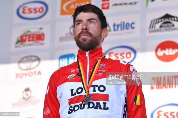 Podium / Thomas De Gendt of Belgium and Team Lotto Soudal Silver Medal / Celebration / during the 119th Belgian Road Championship 2018 a 43,2km...