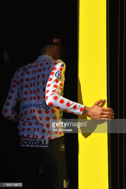Podium / Tim Wellens of Belgium and Team Lotto Soudal Polka Dot Mountain Jersey / Celebration / during the 106th Tour de France 2019 Stage 13 a 272km...