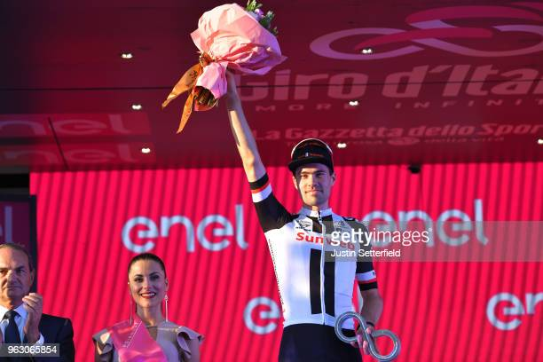 Podium / Tom Dumoulin of The Netherlands and Team Sunweb / Celebration / during the 101st Tour of Italy 2018 Stage 21 a 115km stage from Rome to Rome...