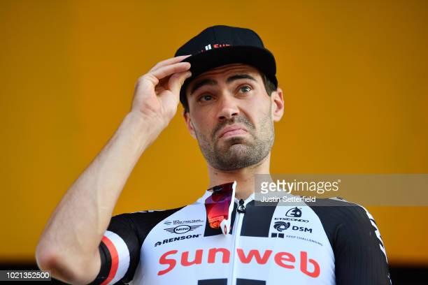 Podium / Tom Dumoulin of The Netherlands and Team Sunweb / during the 33rd Deutschland Tour 2018, Team Presentation / Deine Tour / on August 22, 2018...