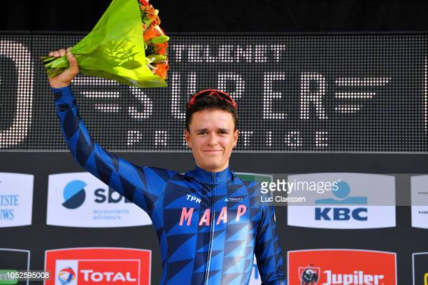 Podium / Tom Pidcock of Great Britain and Team Wiggins / Celebration / during the SP 4th Boom - Niels Albert CX 2018 / Superprestige / on October 20,...