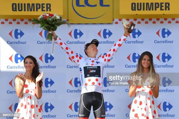 Podium / Toms Skujins of Latvia and Team Trek Segafredo Polka Dot Mountain Jersey Celebration / during the 105th Tour de France 2018, Stage 5 a...