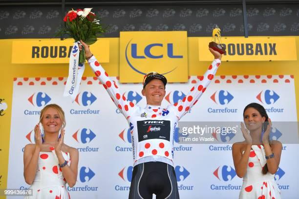 Podium / Toms Skujins of Latvia and Team Trek Segafredo Polka Dot Mountain Jersey / Celebration / during the 105th Tour de France 2018, Stage 9 a...