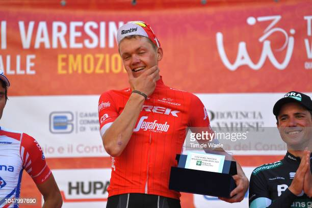 Podium / Toms Skujins of Latvia and Team Trek-Segafredo / Celebration / Peter Kennaugh of Great Britain and Team Bora-Hansgrohe / during the 98th Tre...