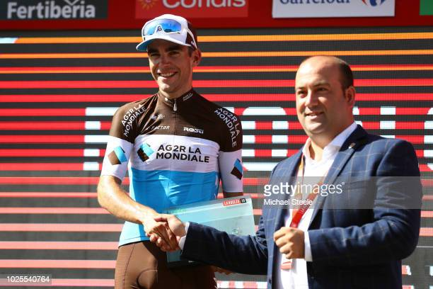 Podium / Tony Gallopin of France and Team AG2R La Mondiale / Celebration / during the 73rd Tour of Spain 2018, Stage 7 a 185,7km stage from...