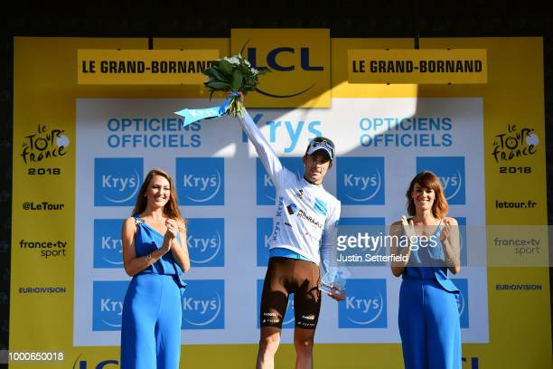 Podium / Tony Gallopin of France and Team AG2R La Mondiale White Best Young Jersey / during the 105th Tour de France 2018 / Stage 10 a 158,5km stage...