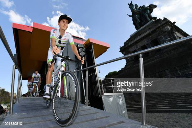 Podium / Warren Barguil of France and Team Fortuneo Samsic / during the 33rd Deutschland Tour 2018 Team Presentation / Deine Tour / on August 22 2018...