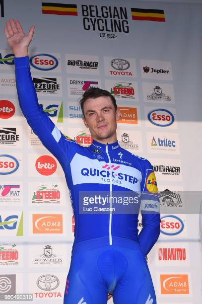 Podium / Yves Lampaert of Belgium and Team Quick-Step Floors Bronze Medal / Celebration / during the 119th Belgian Road Championship 2018 a 43,2km...