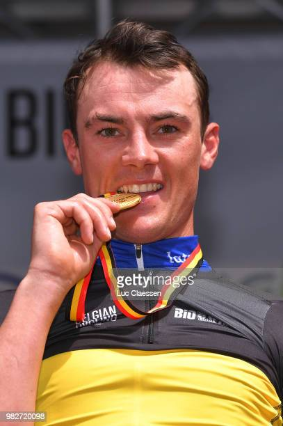 Podium / Yves Lampaert of Belgium and Team Quick-Step Floors Gold Medal / Celebration / during the 119th Belgian Road Championship 2018, Elite Men a...