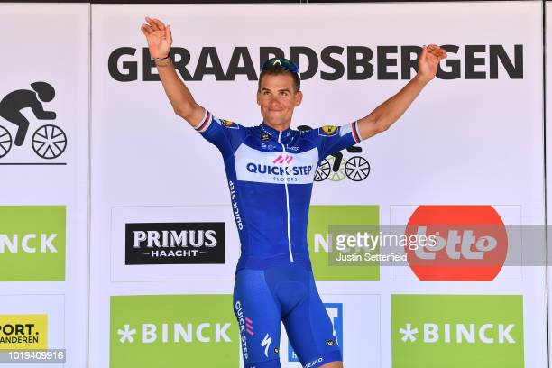Podium / Zdenek Stybar of Czech Republic and Team Quick Step Floors / Celebration / during the 14th BinckBank Tour 2018, Stage 7 a 215,6km stage from...