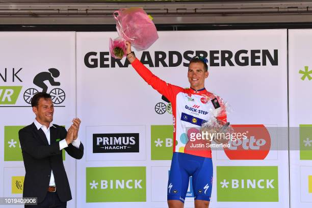 Podium / Zdenek Stybar of Czech Republic and Team Quick Step Floors Red Points Jersey / Celebration / during the 14th BinckBank Tour 2018, Stage 7 a...