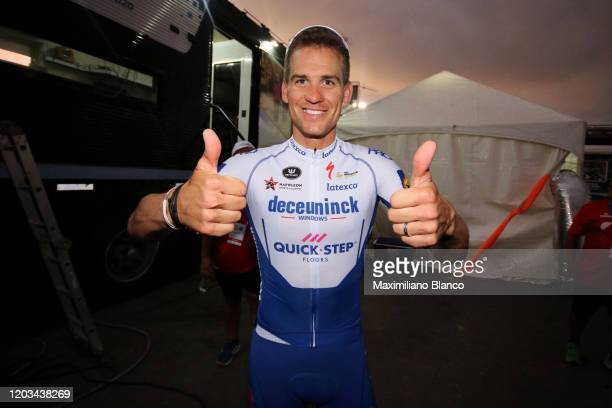 Podium / Zdeněk Štybar of Czech Republic and Deceuninck - Quick-Step Team / Celebration / during the 38th Vuelta a San Juan International 2020, Stage...