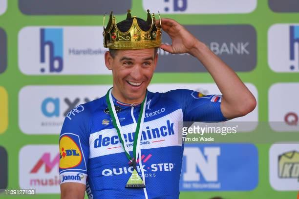 Podium / Zdeněk Štybar of Czech Republic and Team Deceuninck - Quick-Step / Celebration / Crown / Trophy / during the 62nd E3 Harelbeke 2019 a...