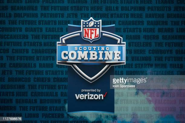 Podiums ready for the start of the NFL Scouting Combine on February 27 2019 at the Indiana Convention Center in Indianapolis IN