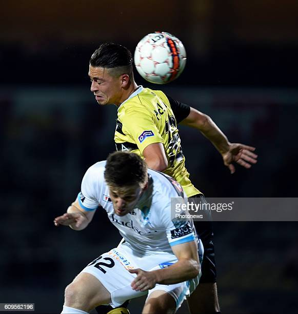 Poelmans Joeri and Thomas Foket midfielder of KAA Gent pictured during Croky cup 1/16 F match between KSK Lierse and KAA Gent on september 21, 2016...
